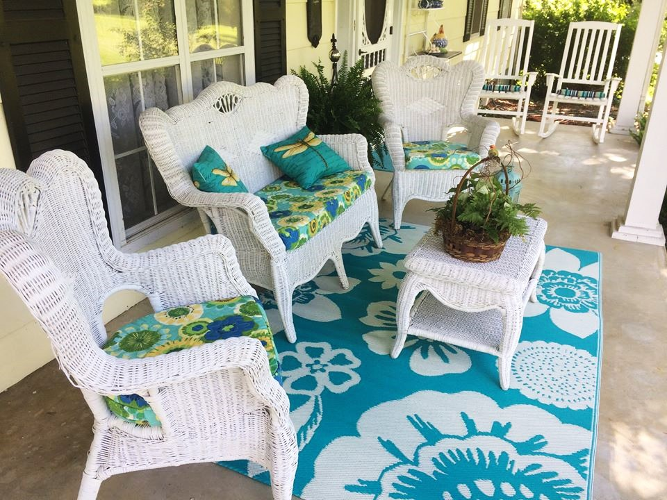 glamorous front porch furniture | How I Got My Beautiful Front Porch Furniture for Free ...